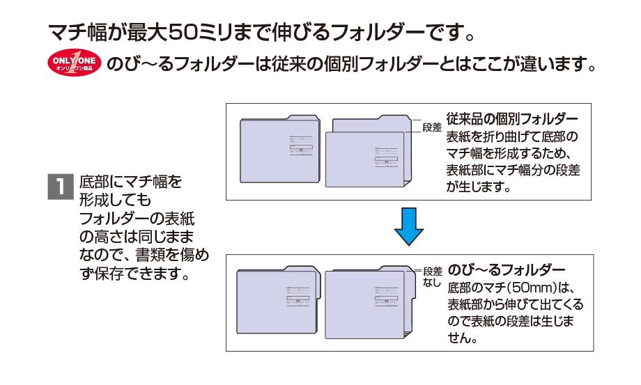 カラーフォルダー 統一伝票用(3枚入)