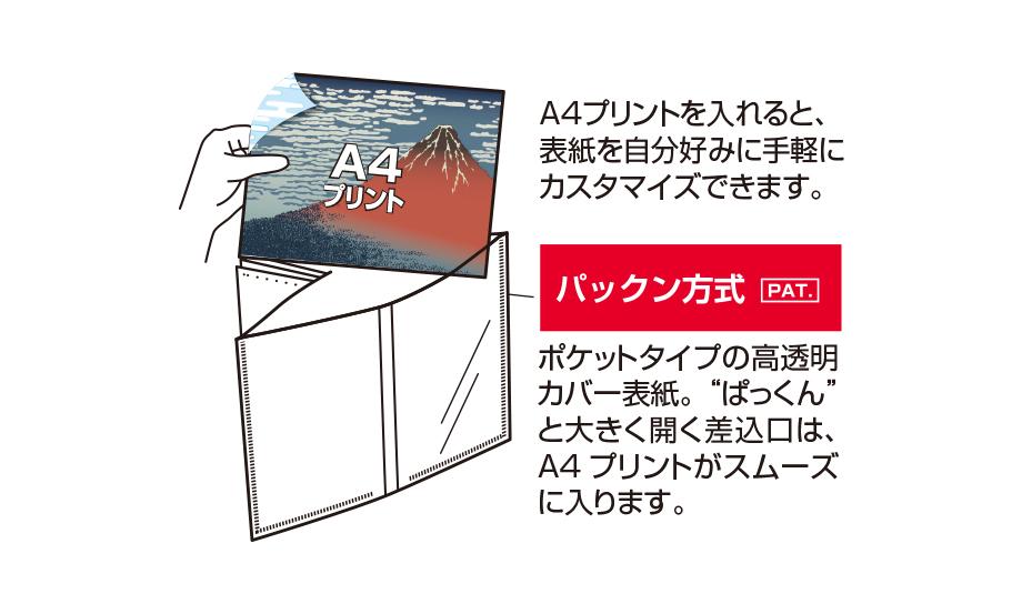 パックン カバーアルバム<高透明>2L判