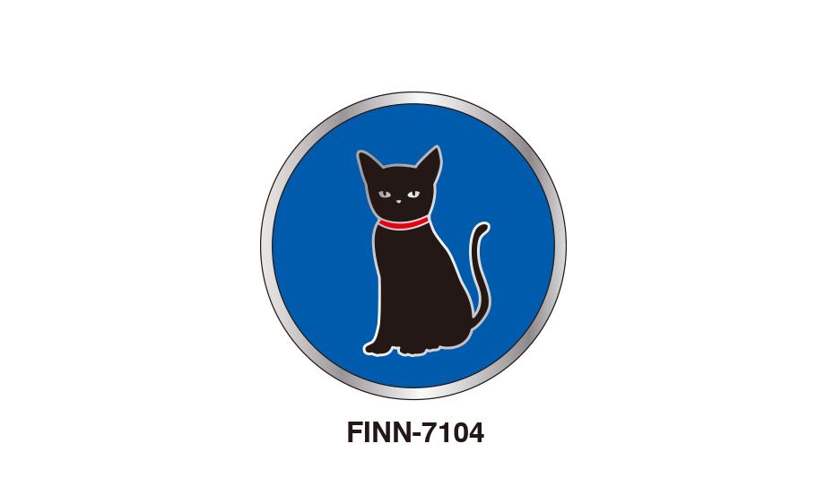 マグバッジ ブルー黒猫